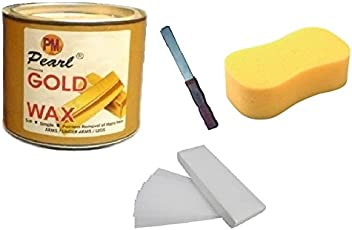 Generic DDH Gold Wax, 90 Wax Stripes, Spong, Applicator Waxing Kit, 600gm (gold-spo) - Pack of 4