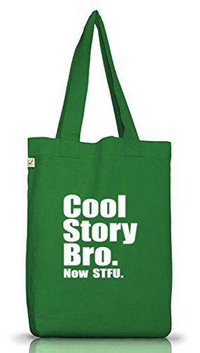 Shirtstreet24, COOL STORY BRO. Jutebeutel Stoff Tasche Earth Positive (ONE SIZE) Moss Green