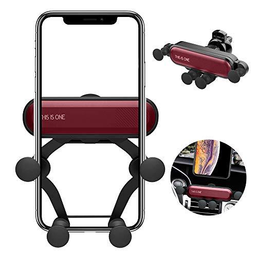 """Seinal Auto Handyhalter This is one handyhalterung Schwerkraft KFZ Lüftung Halter Universale 360°drehbar Auto Phone Halterung für alle 4,7"""" - 6,5"""" Smartphone, Samsung,Phone,Huawei usw. (Rot)"""