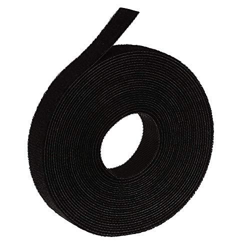 Oldhill Verschluss Tapes Haken und Loop Wiederverwendbar Träger Bindekordeln Kabelbinder-3/10,2cm Breite, 15'x 2Rollen, Schwarz -
