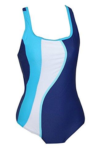eleMar Badeanzug Bettina B-Cup blau Gr.40