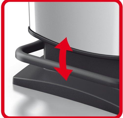 Rotho Paso   Contenedor de basura hermético a olores  29 3 x 26 6 x 45 7 cm  con pedal  20 L  color rojo