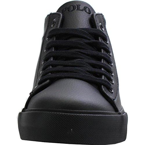 Polo Ralph Lauren Harrison Mid Youth Triple Black Synthetic School Shoes Triple Black