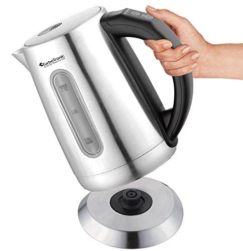 2200W Edelstahl Wasserkocher mit Temperaturwahl 60°C 70°C 80°C 90°C 100°C einstellbar 1,7L Warmhaltefunktion BPA-FREE