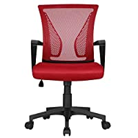 Yaheetech Multi Color Desk Chair Executive Computer Office Chair, Ergonomic Adjustable and Swivel Fabric Mesh Chair with Comfortable Lumbar Support