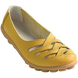 Fangsto Flats, Damen Mokassins Gelb gelb