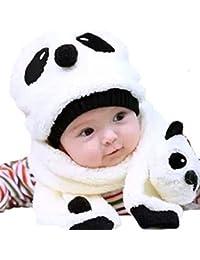 Mignon Bonnet Chaud Chapeau Panda Bebe Enfant + Echarpe Hiver Automne -  Koobea cc525cbb59a