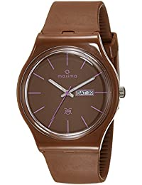 Maxima Analog Brown Dial Unisex Watch-39332PPGW