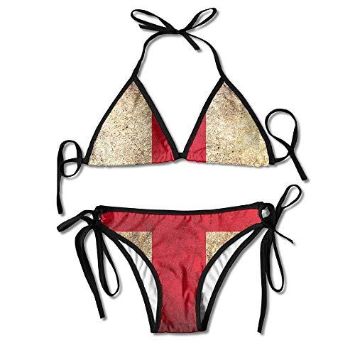 Georgia String (Republic of Georgia Flag Womens Sexy Bikini Set Outdoor Swimwear Adjustable Swimsuit 2 Piece)