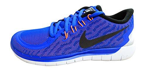 Nike Wmns Free 5.0 Flash, Chaussures de Running Entrainement Mixte Adulte Bleu - Azul (Rcr Blue / Blk-Hypr Orng-Chlk Bl)