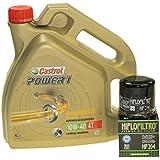 Citomex - Juego de cambios de aceite para moto (garrafa de 4 L de aceite Castrol SAE 10W-40 Power 1 4T, incluye filtro de aceite Hiflo HF204)