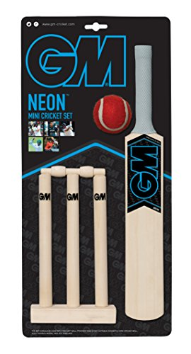 GM Kids 'Neon Mini Cricket-Set, mehrfarbig, one - Cricket-fledermäuse Gm