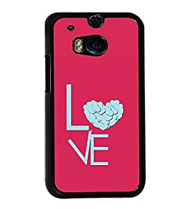 Love Heart 2D Hard Polycarbonate Designer Back Case Cover for HTC One M8 :: HTC M8 :: HTC One M8 Eye :: HTC One M8 Dual Sim :: HTC One M8s