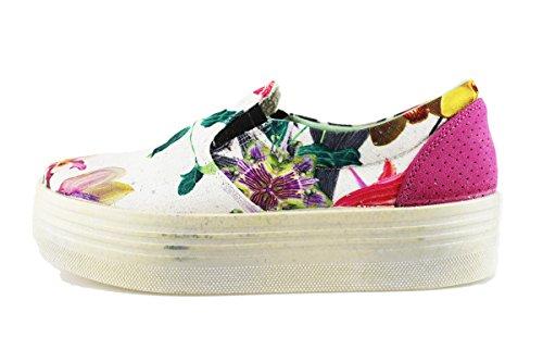 BEVERLY HILLS POLO CLUB sneakers donna multicolor tessuto camoscio AG01 (37 EU)