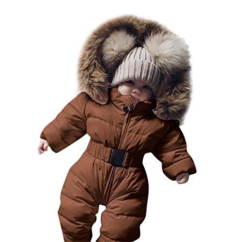 BaZhaHei Winter-Säuglingsbaby-Mädchen-Spielanzug-Jacken-mit Kapuze Overall-warmes Starkes Mantel-Outfit Warm Winter Mit Kapuze Kapuzenpullover Daunenjacke Steppjacke
