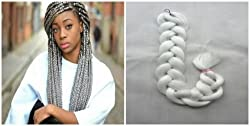 "35"" 165g X-pression Braiding Hair, Ultra Braid, Synthetic Braiding, Hair Bulk Hair For Braiding, Hair Extension For African American Women, 1pc (4) (613#)"