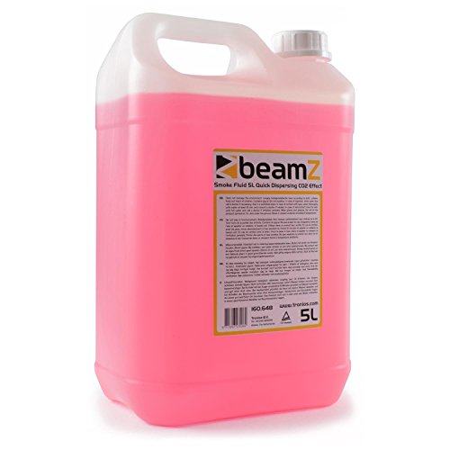 Nebelflüssigkeit • 5 Liter • CO2-Effekt • für mitteldichten Nebel • schnelle Dispersion • Geruchsneutral • umweltfreundlich • geeignet für alle beamZ Nebelmaschinen • pink (Nebel Maschine Pumpe)