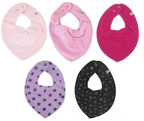 ack Baby Dreieckstücher Halstücher SPARPACK (Pinky Stars) ()