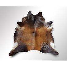 ALFOMBRA DE PIEL DE VACA Mahoagany 220 x 200 cm – Calidad Premium de PIELES DEL SOL