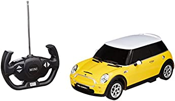 Toyhouse Officially Licensed Rastar Mini Cooper S 1:14 Scale Model Car, Yellow