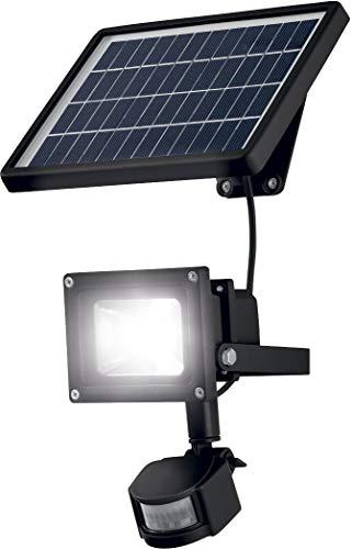 LIVARNO LUX® LED-Solarstrahler mit Bewegungsmelder, polykristallines Solarmodul, 900LM (schwarz)