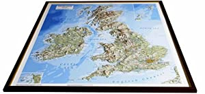 British Isles Raised Relief Map: Unframed (Raised Relief Maps Series)