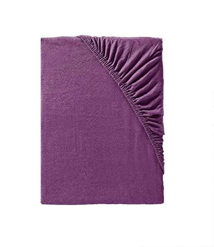 Träumschön Bettlaken lila 90x200 bis Jersey Spannbettlaken 100x200 cm elastisch   Spannbetttuch Jersey in violett   Ideal kombinierbar mit lila Bettwäsche