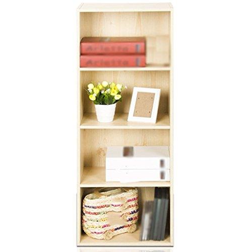DFHHG® Bücherregal, Bücherregal, Schließfächer Spanplatte weiß Ahorn Farbe vier Schichten Kombination dauerhaft -