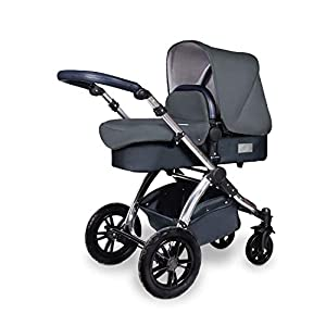 Ickle Bubba Stroller, Baby Travel System | Bundle incl Rear and Forward-Facing Pushchair, Car Seat, ISOFIX Base, Carrycot, Footmuff and Raincover | Stomp V4 Special Edition, Woodland Chrome   9