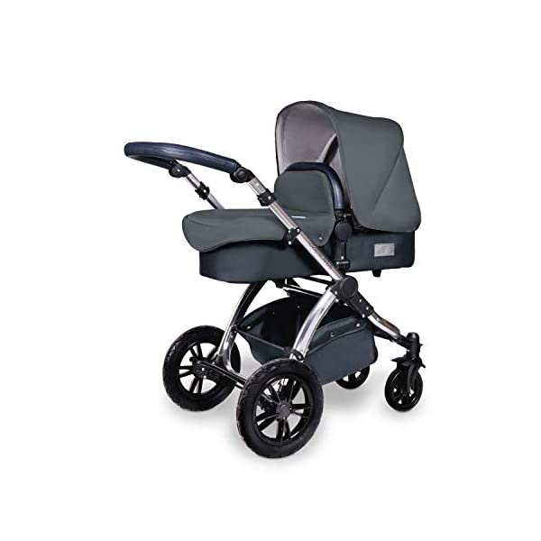 Ickle Bubba Stroller, Baby Travel System | Bundle incl Rear and Forward-Facing Pushchair, Car Seat, ISOFIX Base, Carrycot, Footmuff and Raincover | Stomp V4 Special Edition, Woodland Chrome Ickle Bubba DO-IT-ALL TRAVEL SYSTEM: Features luxury carrycot, reversible pushchair, and Galaxy Group 0+ lined car seat and ISOFIX base. Easy-click release allows for quick transitions between car and stroller LIGHTWEIGHT, QUICK FOLD: 6.5kg chassis with wheels. BUILT IN STORAGE: Matching stow away bottom basket with high sides for increased storage; changing bag with shoulder strap and mats included FORWARD AND PARENT FACING TODDLER SEAT: The multi-position recline allows your child to lie comfortably for naps or sit upright to take in the sights. 1