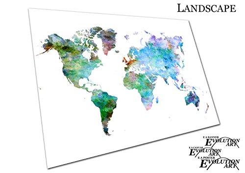 deutsch Leinwand-Druck 150x100 cm Politische Weltkarte