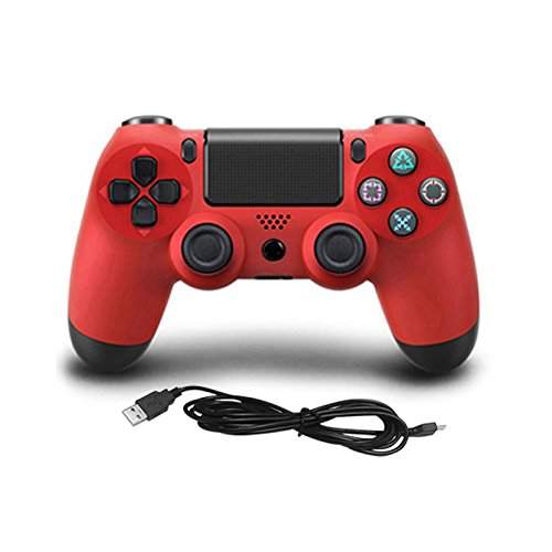 Price comparison product image Zantec Gamepad Controller USB Wired Game Controller Gamepad for PS4 red