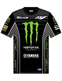 Monster Tech3 ALL Over 2017 Camiseta, Hombre, Negro/Verde, FR : ADULTE (Taille Fabricant : SM)