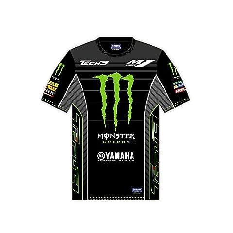 Monster Tech3 All Over 2017 T-Shirt Homme, Noir/Vert, FR : ADULTE (Taille Fabricant : XL)