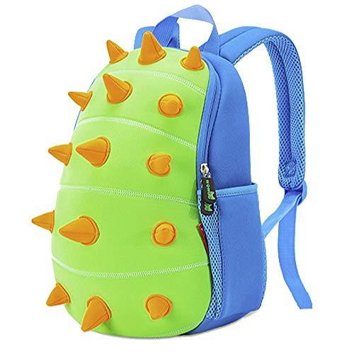 Ofun Dinosaur Backpack For Kids [Funny 3D Dinosaur Lively Blue] Gift For Children 2-8 years old