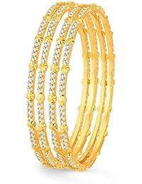 Sukkhi Estonish Gold Plated Set OF 4 Australian Diamond Bangle for Women