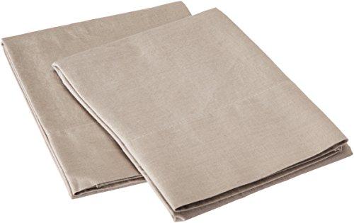 Mischgewebe Baumwolle Leinen Kissenbezüge, Baumwollmischung, taupe, Standard Case