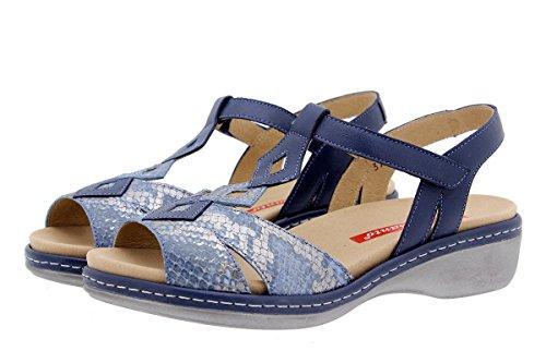 Scarpe donna comfort pelle PieSanto 1821 Sandali Plantare Estraibile larghezza speciale Jeans