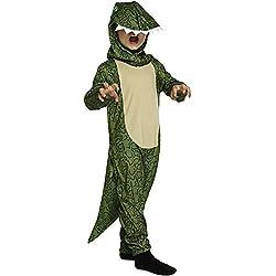 Childs Green Dinosaur Godzilla T-Rex Onesie Fancy Dress Book Week Costume #Small 4-6 by TrendyFashion