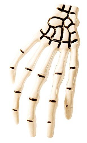 aarspange Haarklammer Halloween Haarschmuck Knochen Haar Clip Weiß (Kunststoff-knochen Für Halloween)