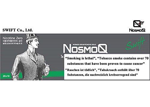 [NosmoQ] Herbal Sticks, 1 Karton (10packs-200 Sticks), Menthol-Geschmack , Non-Tabak, Kein Nikotin, Keine süchtig machenden Chemikalien für die Gesundheit, 100{f2af2c772916bdc515395d2da1a956cfb867465cd5ff9d4a8f048ed25e3cb725} Kräuter aus der orientalischen Medizin verwendet.