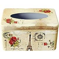 Jizhi Caja De Pañuelos Clásico Hoja Bandeja De Cassette 200 Muestras Recogidas El Hogar Europeo Caja Cosmética Caja Rosa Roja