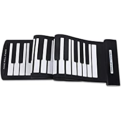 ammoon Portátil 61 Claves Roll-Up Piano Flexible USB MIDI Keyboard Electrónico Piano Rollo de la Mano