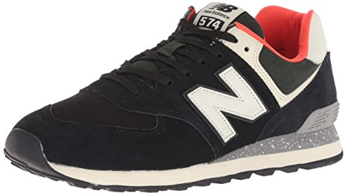 New Balance Mens ML574 Suede Mesh Black Flame Trainers 8 UK
