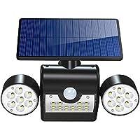 【Version Innovante】Lampe Solaire 30 LED Etanche IP65 Eclairage Extérieure, Luminaire Extérieur Détecteur de Mouvement Panneau Solaire Amélioré 120° Grand Angle LED (la Goupille) Interrupteur