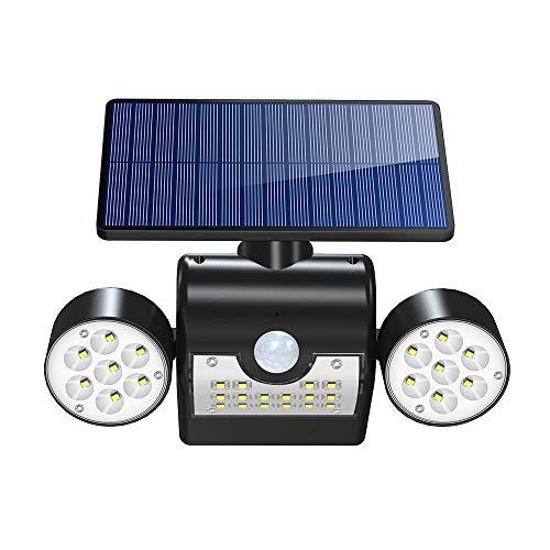 Luz Solar 30LED Lámpara Solar Exterior, IP65 Impermeable Wireless Lámpara Solar con...