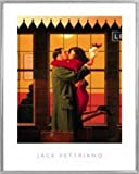 1art1 Jack Vettriano Poster Kunstdruck und Kunststoff-Rahmen - Back Where You Belong I (50 x 40cm)