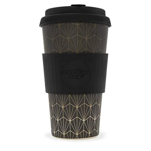 Ecoffee Cup Grand Rex 453,6 gram/475 ML Motif géométrique | réutilisable en Bambou Tasse à café