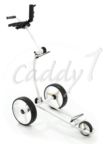 Design Golf Trolley CADDYONE 100 weiß, nur knapp 6kg