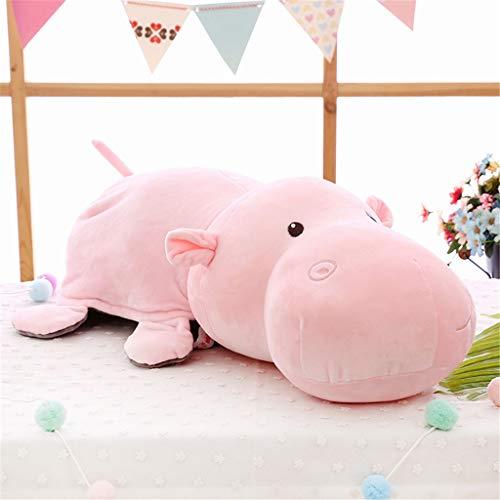 Miss Zhang's shop peluches peluches Animale Ippopotamo Bambola Bambino peluches Comfort Cuscino 45 Cm Rosa Peluche Giocattoli